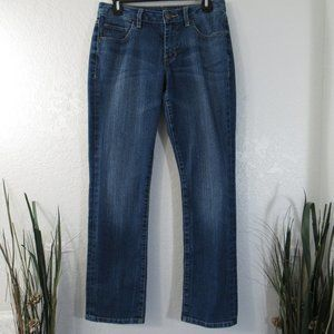 Jag Jeans Womens Sz 8P Petite Straight Leg Denim